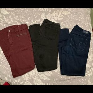 American Eagle AE Lot of 3 Jeggings